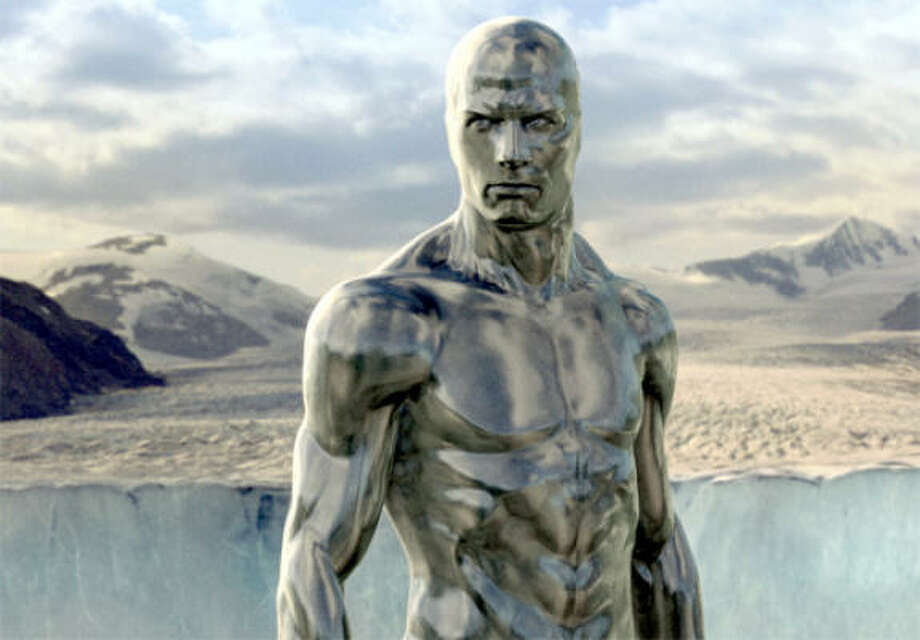 The enigmatic Silver Surfer comes to Earth and brings destruction, in Fantastic Four: Rise of the Silver Surfer. Photo: Courtesy Photo