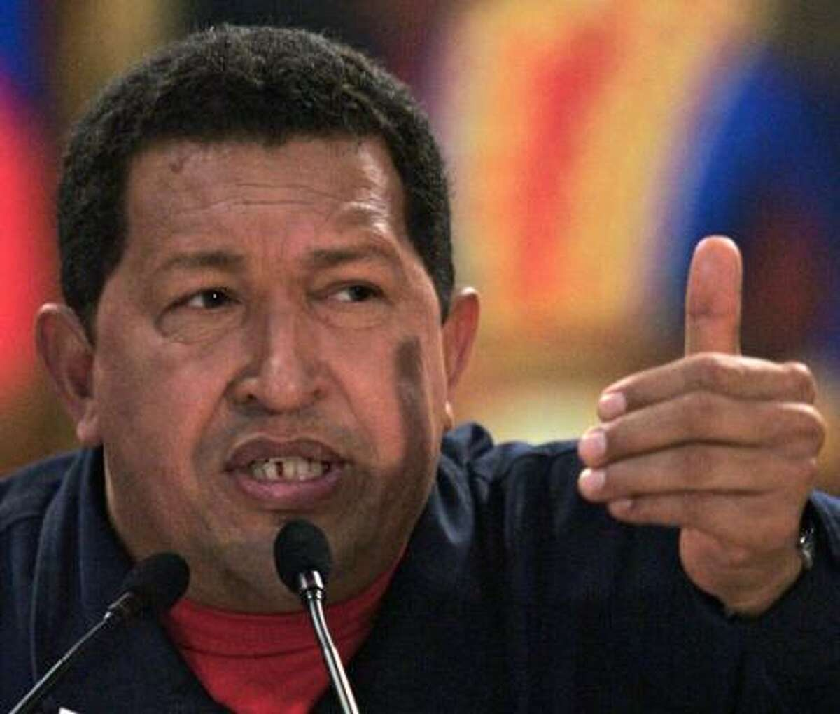 Hugo Chavez contends Washington is trying to stir up violence against his regime.