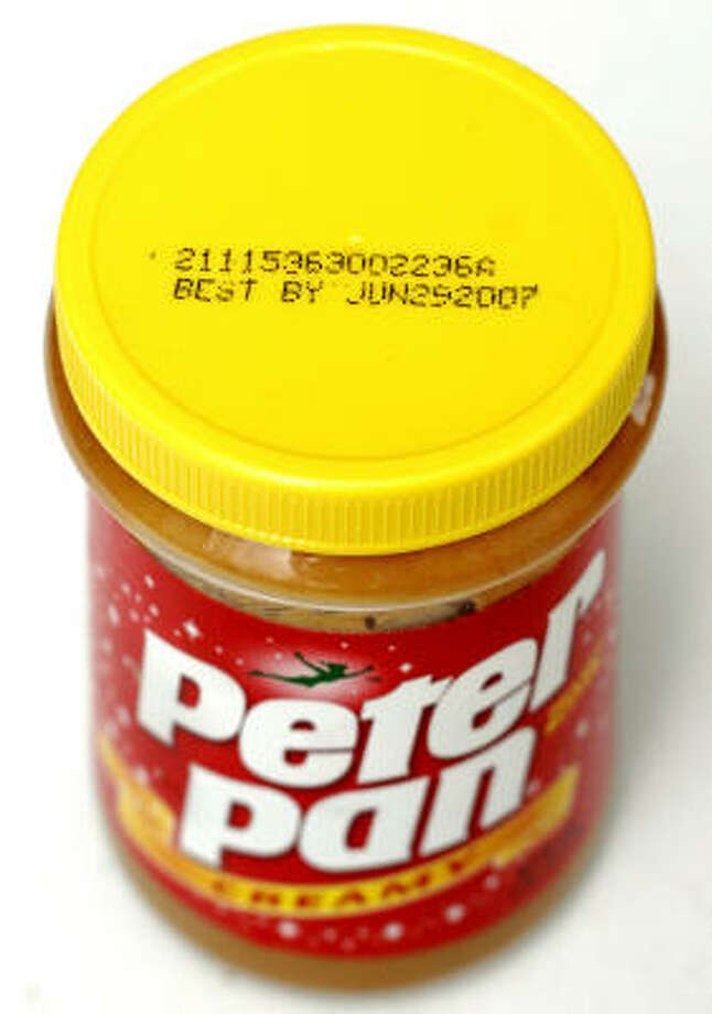 ConAgra said it is recalling all Peter Pan and Great Value peanut butter beginning with product code 2111. Photo: Bill Pugliano, Getty Images