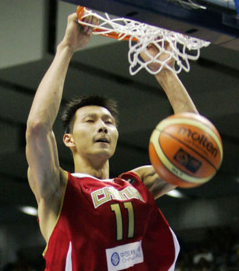 NBA prospect Yi Jianlian played on China's 2004 Olympic team and the 2006 world championship team. Photo: MARK J. TERRILL, AP