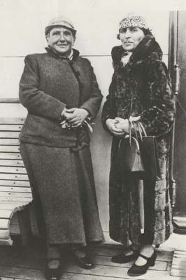 This couple was at the center of the literary world back in the 1920s. While Gertrude Stein was the mentor to greats such as Ernest Hemingway and Pablo Picasso, it was the dutiful Alice who would often be hanging out in the other room with the literary wives.  Photo: CHRONICLE FILE