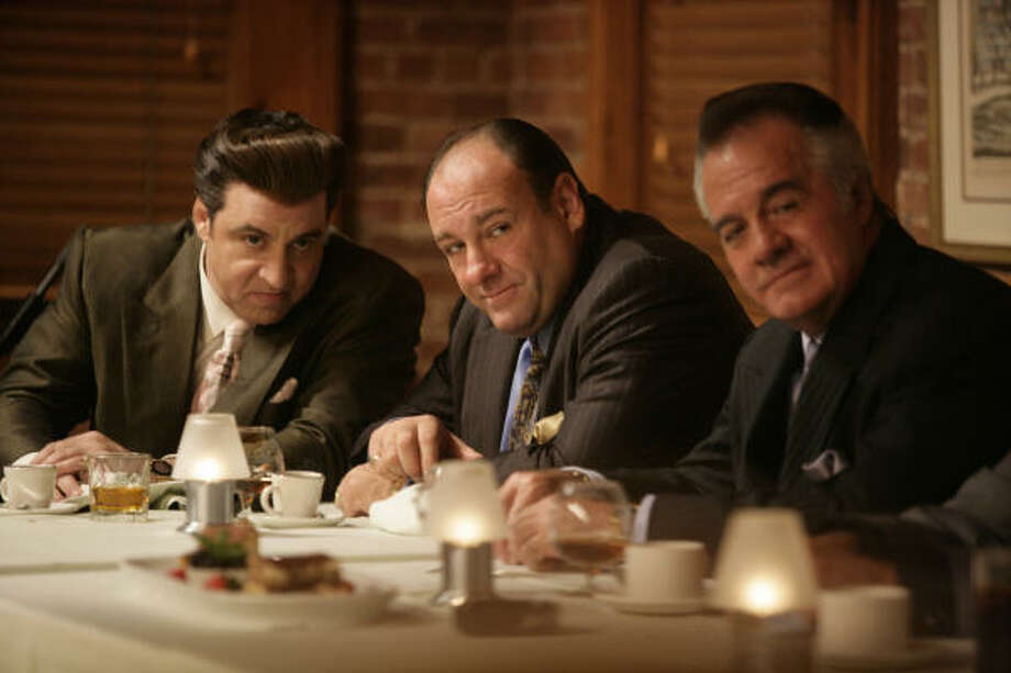 Steven Van Zandt, from left, James Gandolfini and Tony Sirico star in The Sopranos, which kicks off its final season Sunday on HBO. Photo: Craig Blankenhorn / HBO