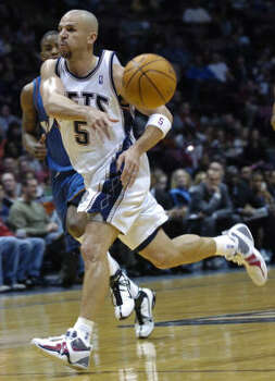 Jason Kidd, pictured, and Vince Carter became the first teammates to get triple-doubles in the same game since 1989. Photo: Bill Kostroun, AP