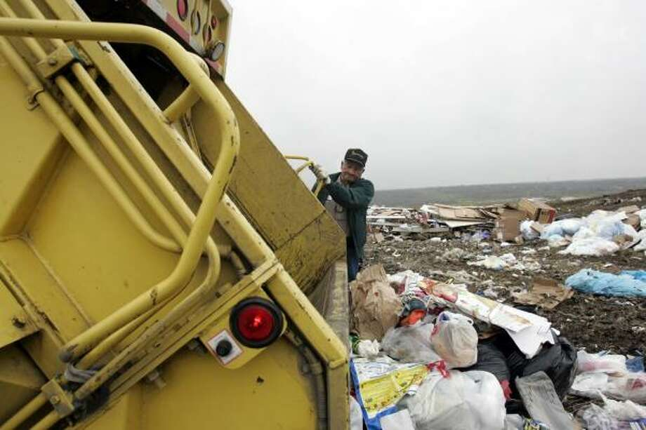 "Garbage workerWhy Ask Men said it was so bad: ""As a child, riding on the back of a huge, smelly truck might have sounded like fun, but as adults, it indicates a serious misstep in life.""Source: Ask Men Photo: Lisa Krantz Photos, San Antonio Express"