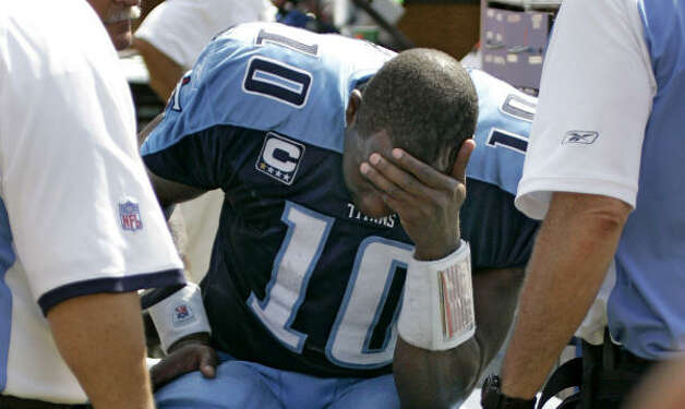 Vince Young's sore quad was enough to keep him out of the starting lineup for Tennessee. Photo: Chris O'Meara, AP