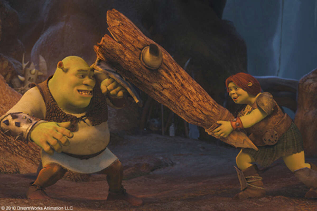 (L-R) Shrek and Fiona in