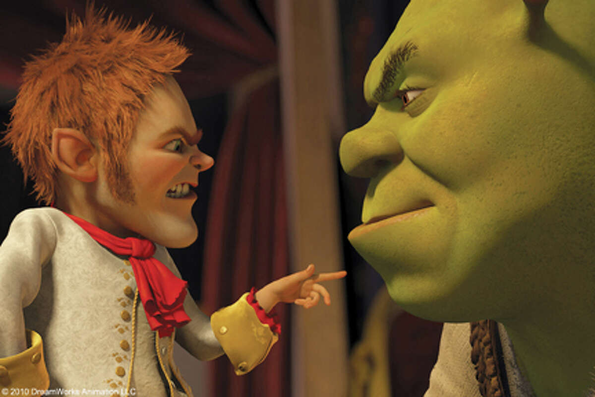 (L-R) Rumpelstiltskin and Shrek in