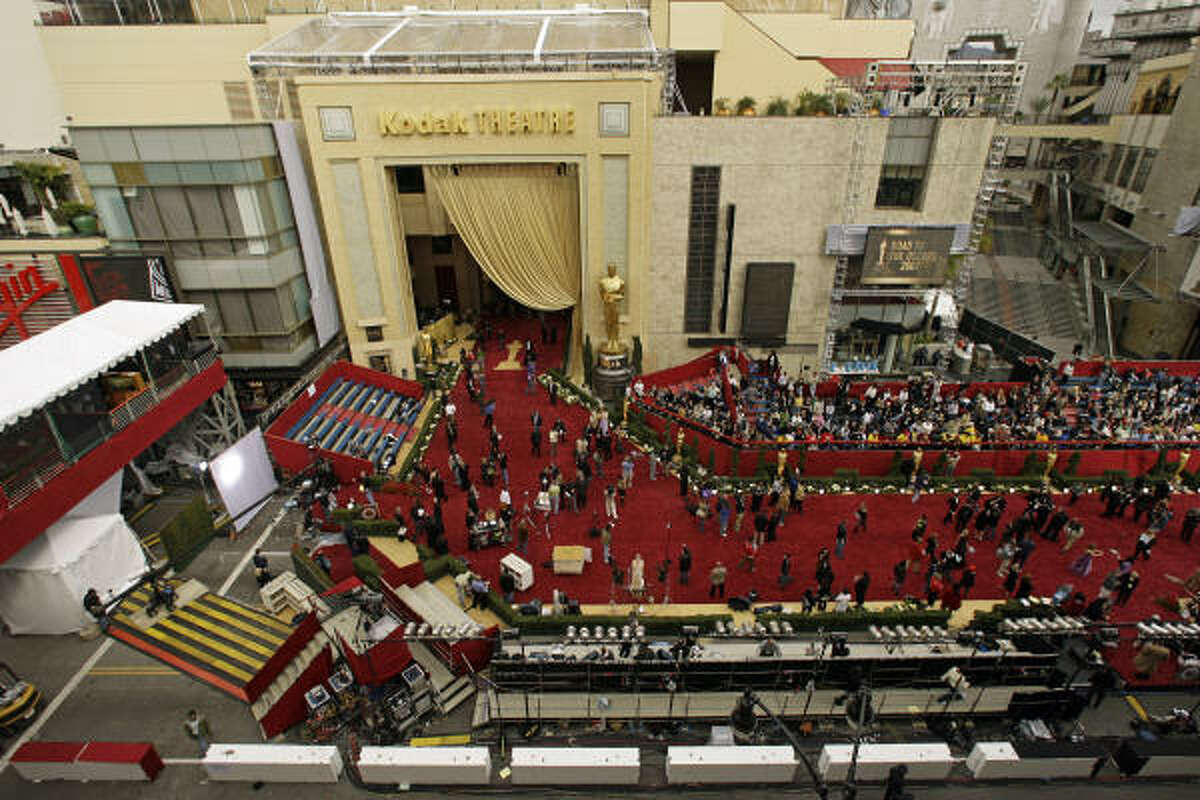 Stars arrive on the red carpet for the 79th Academy Awards, outside the Kodak Theatre, in Los Angeles.