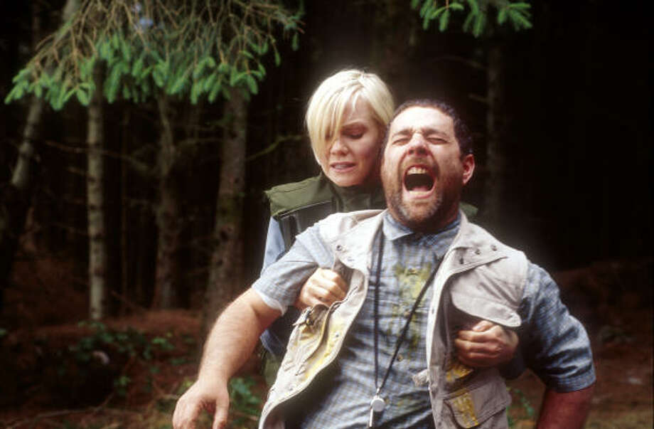 Laura Harris and Andy Nyman in Severance. Photo: Magnolia Pictures