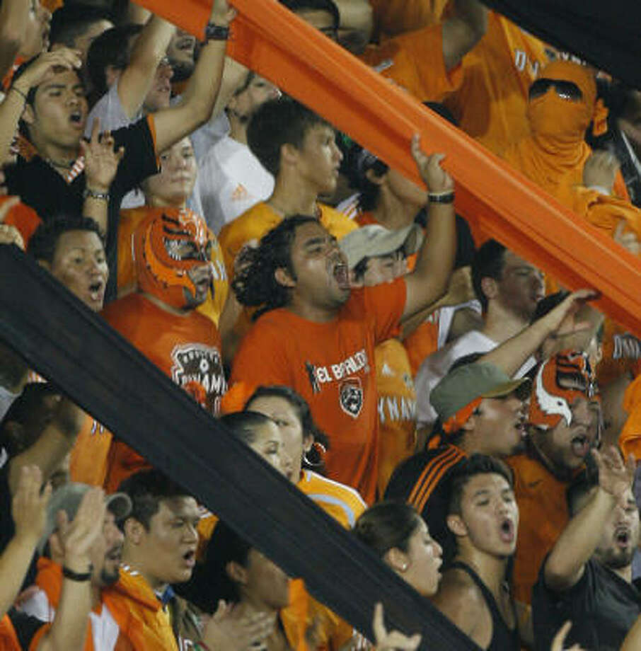 The Dynamo have had plenty of international competition in the past two seasons, and the fans love it. Photo: Steve Campbell, Chronicle