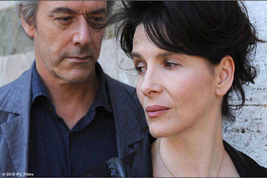 William Shimell as James Miller and Juliette Binoche as Elle in