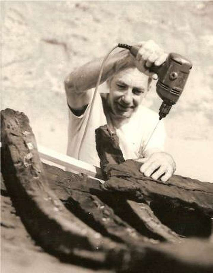 "J. Richard Steffy, reassembling a 2,400-year-old Greek ship in 1973, was called the ""Sherlock Holmes of ancient ship reconstructors."" Photo: COURTESY PHOTO"