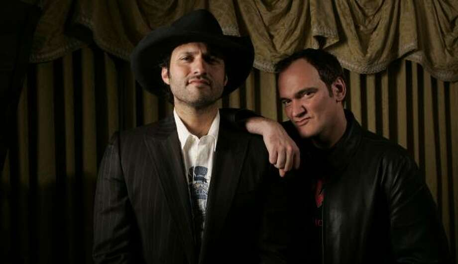 Robert Rodriguez, left, and Quentin Tarantino joined forces for Grindhouse. Photo: REED SAXON, ASSOCIATED PRESS