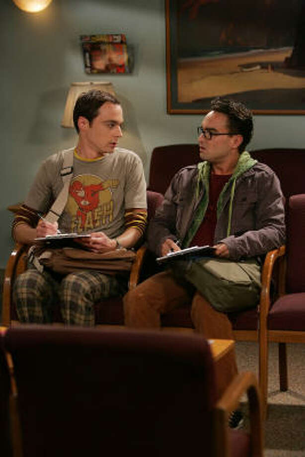 Smart guys (Jim Parsons, left, and Johnny Galecki) win again in The Big Bang Theory. Photo: Monty Brinton, CBS