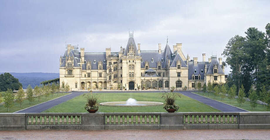 Biltmore House, modeled after French châteaux of the Loire Valley, includes 250 rooms and attracts about 1 million visitors each year. Biltmore Estate covers 8,000 acres. Photo:  The Biltmore Company