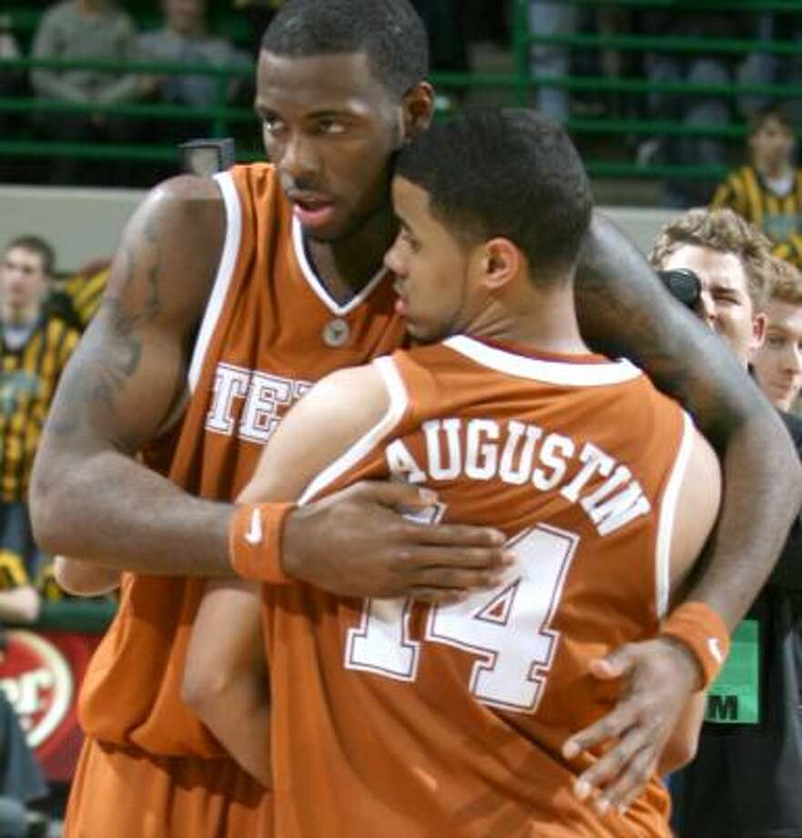 D.J. Augustin (14) and the Longhorns lead the Big 12 in scoring. Photo: Duane A. Laverty, AP