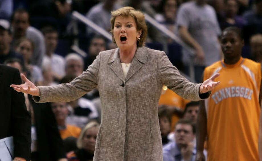 Pat Summitt and the Lady Vols are back on top of their bracket after failing to earn a No. 1 seed last season. Tennessee will play Drake in the first round. Photo: Bob Child, AP