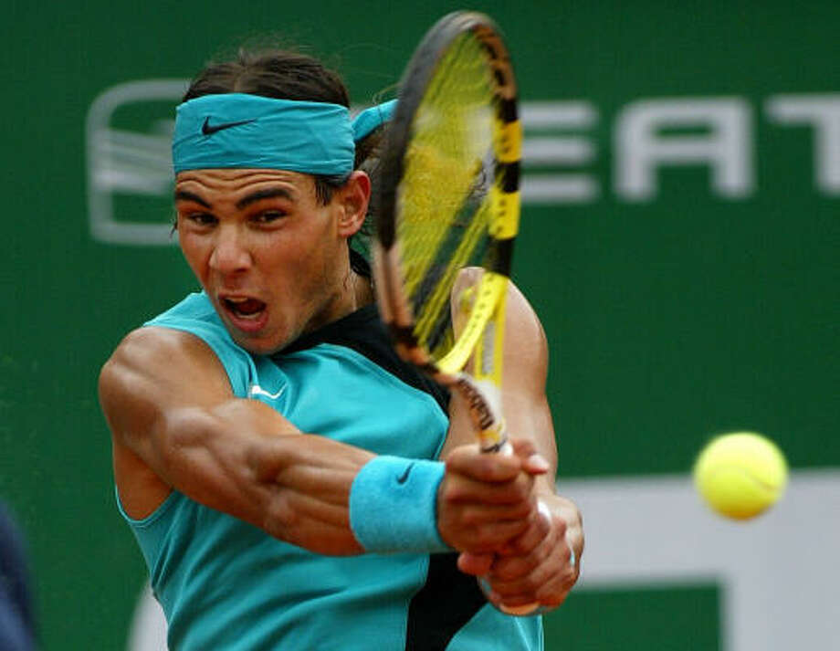 Spain's Rafael Nadal beat David Ferrer to win his 71st straight match on clay. Photo: CESAR RANGEL, AFP/Getty Images