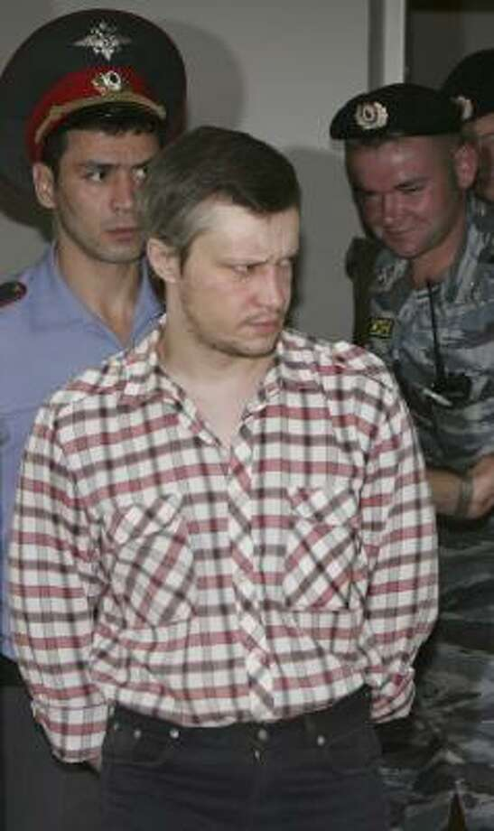 Alexander Pichushkin, 33, said in a televised interview that he killed dozens of people in a Moscow park over several years. Photo: STR, ASSOCIATED PRESS