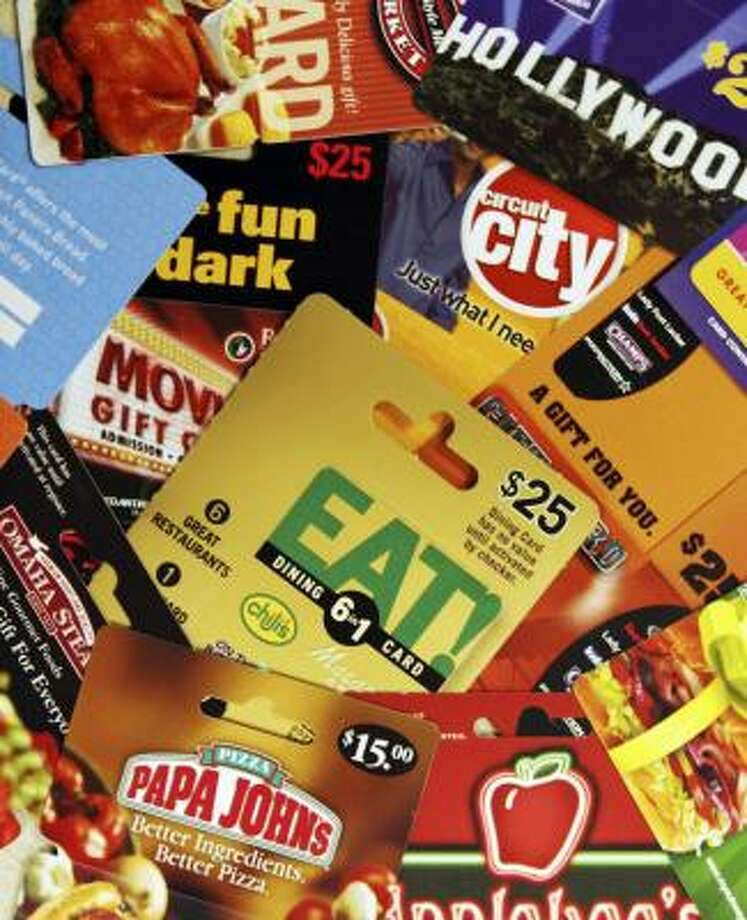 Many retailers are challenging the legality of Maine's claim on unused gift cards. Photo: Pat Wellenbach, ASSOCIATED PRESS