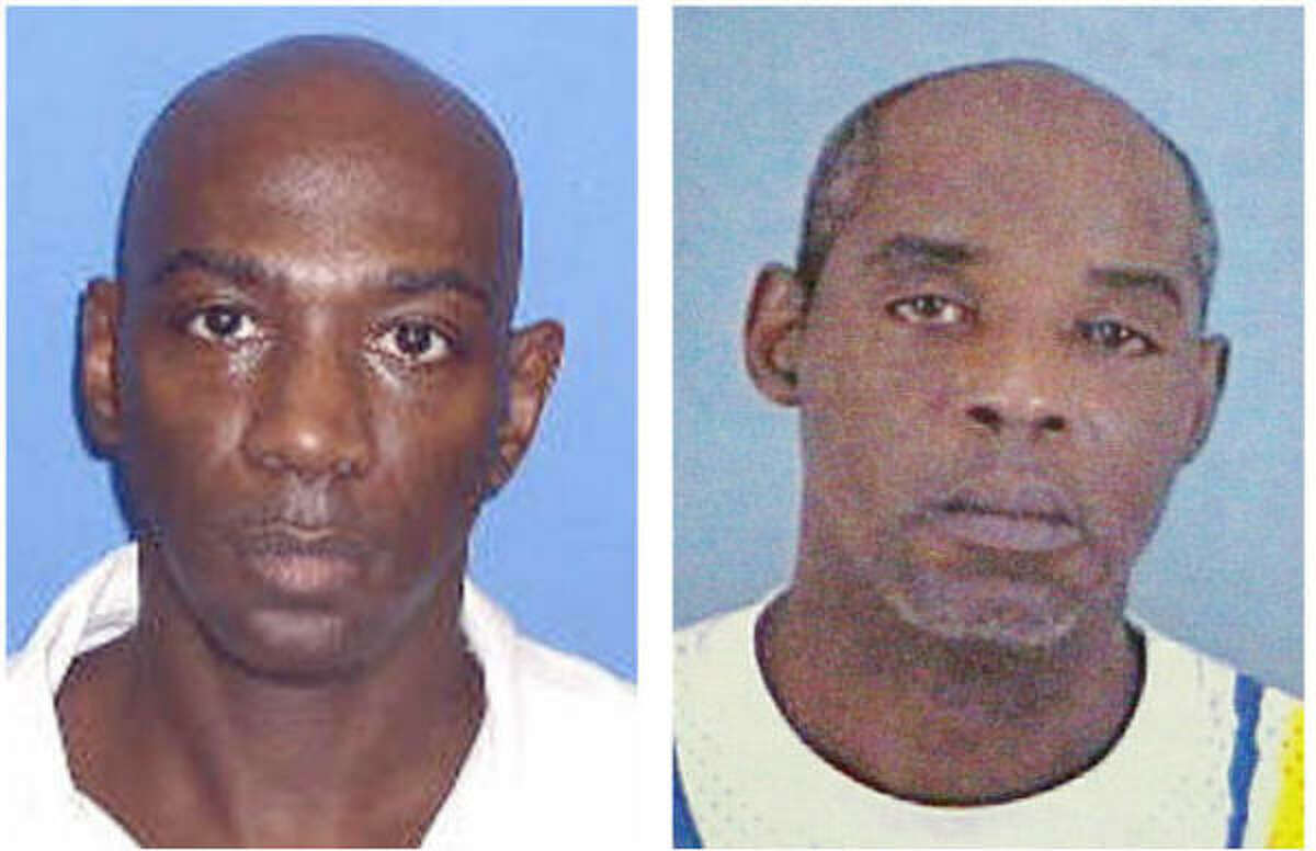 The trial for Darnell Hartsfield, 46, left, is likely to start next year. His cousin Romeo Pinkerton, 49, goes on trial Wednesday.