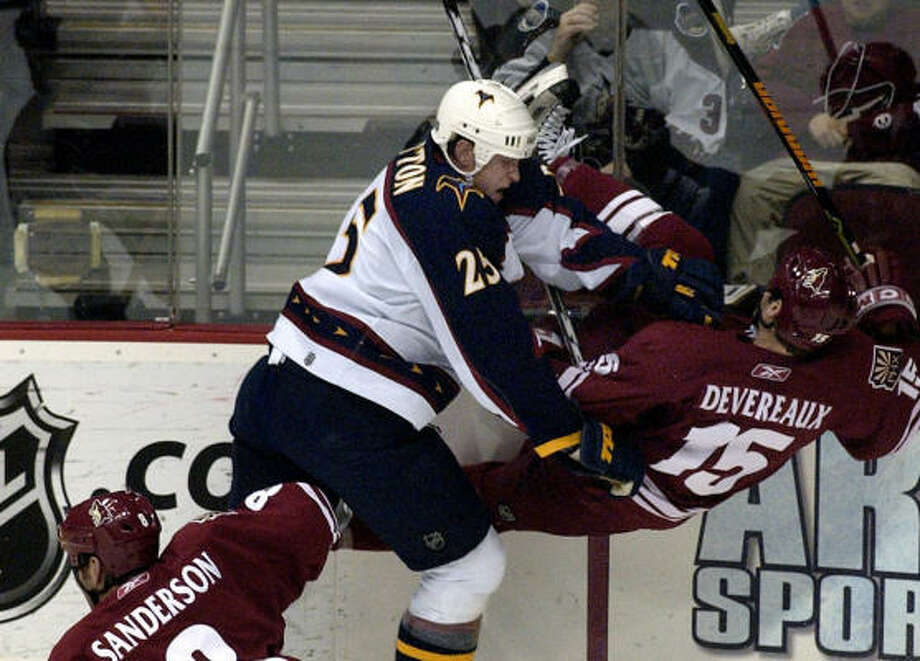 The Islanders signed 6-6 defenseman Andy Sutton to a three-year deal on Friday. Photo: TOM HOOD, AP