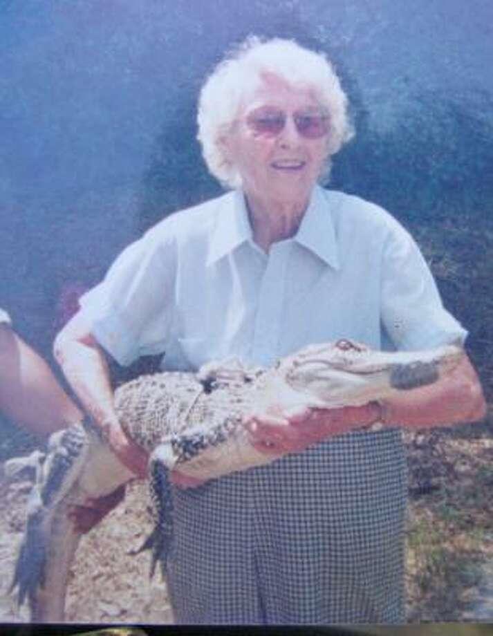 Kathleen Lewis wasn't afraid of any reptile. Photo: FAMILY PHOTO
