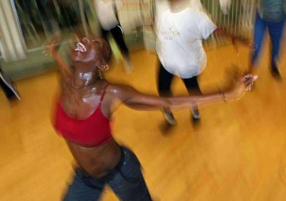 Kukuwa Nuamah leads her namesake class, a high-octane dance workout with African roots. Photo: Sarah L. Voisin, Washington Post