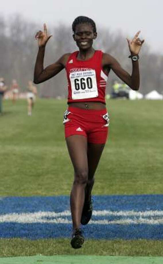 Texas Tech's Sally Kipyego repeated as women's champion by a wide margin. Photo: A.J. MAST, ASSOCIATED PRESS