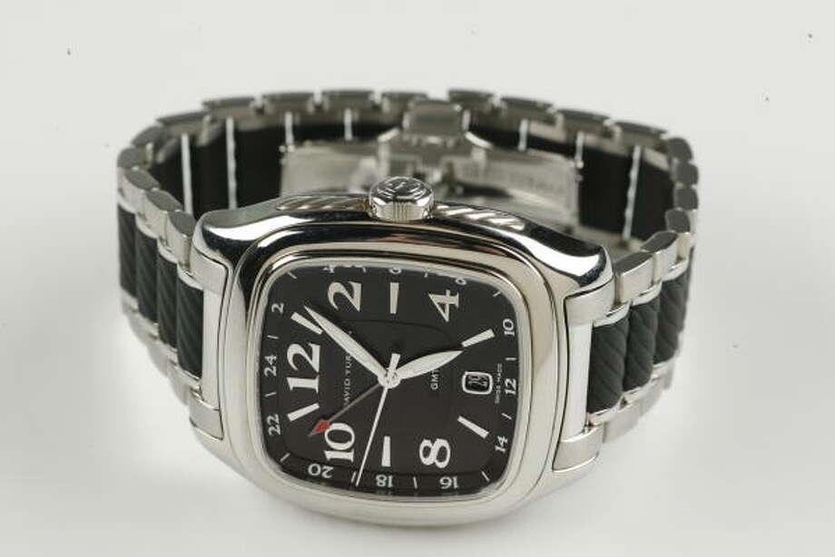 David Yurman chocolate Belmont GMT watch, $3,850 at David Yurman jewelers. Photo: Buster Dean, Chronicle