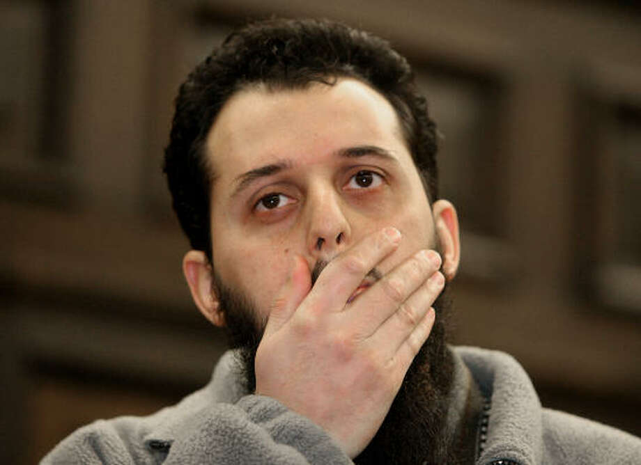 Mounir el Motassadeq awaits sentencing in a German courtroom for his role in the Sept. 11 attacks on the United States. Photo: FABIAN BIMMER, AFP/Getty Images
