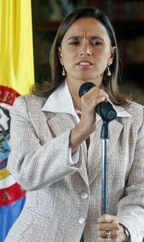 Critics have asked Colombian Foreign Minister Maria Consuelo Araujo to resign. Photo: MAURICIO DUENAS, AFP/GETTY IMAGES