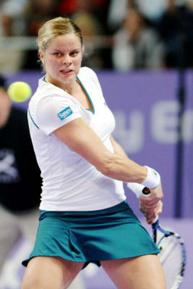 Kim Clijsters, a former U.S. Open champion, plans to retire from tennis after playing an abbreviated schedule in 2007. Photo: GEERT VANDEN WIJNGAERT, AP