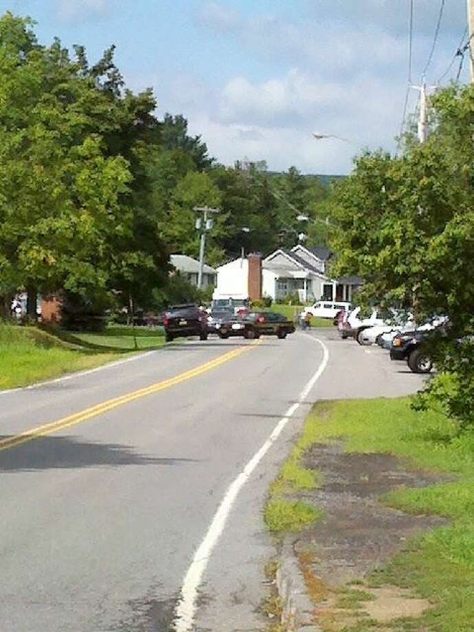 Three women standing outside of a church were killed Wednesday morning when a woman lost control of her vehicle off Route 85A in Voorheesville. The incident took place just before 9 a.m. near St. Matthew?s Church on Mountainview Street. (Dayelin Roman / Times Union)