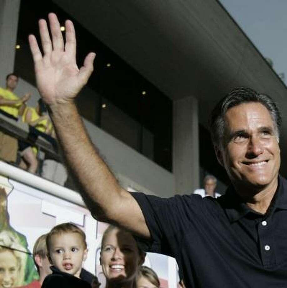Former Massachusetts Gov. Mitt Romney won the straw poll Saturday with 4,416 votes. Photo: CHARLIE NEIBERGALL, AP