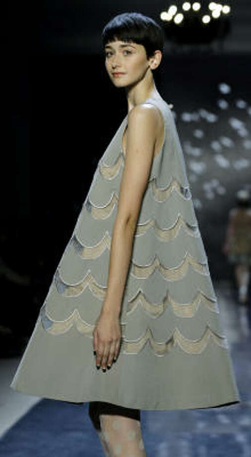 A tent dress can't hide the thin limbs of this model at the Tracy Reese fall 2007 collection show in New York. Photo: Stuart Ramson, AP