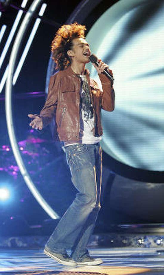 Sanjaya Malakar sported a seven-ponytail faux-hawk on the March 27 show of American Idol. It did not impress the judges. Photo: Fox