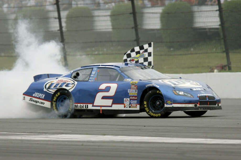 NASCAR driver Kurt Busch set a record by leading for 175 laps at Long Pond. Photo: Matt Rourke, AP