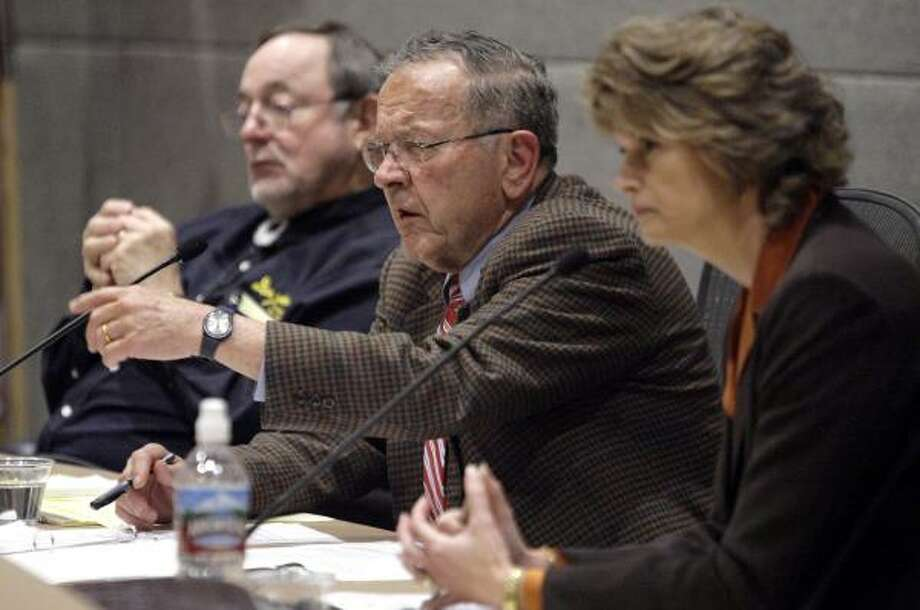 """Rep. Don Young, left, and Sens. Ted Stevens and Lisa Murkowski, seen in 2006, are no longer politically """"bulletproof."""" Photo: Al Grillo, ASSOCIATED PRESS FILE"""