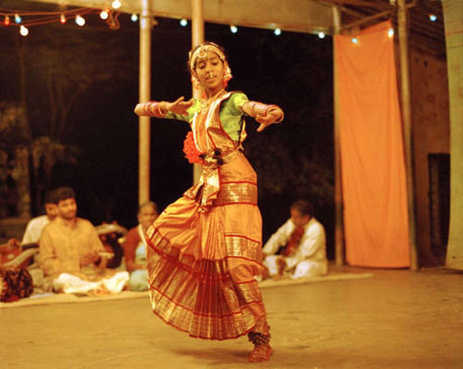 Vanaja (Mamatha Bhukya) dances a Kuchipudi Tillana in the film Vanaja. Photo: Emerging Pictures