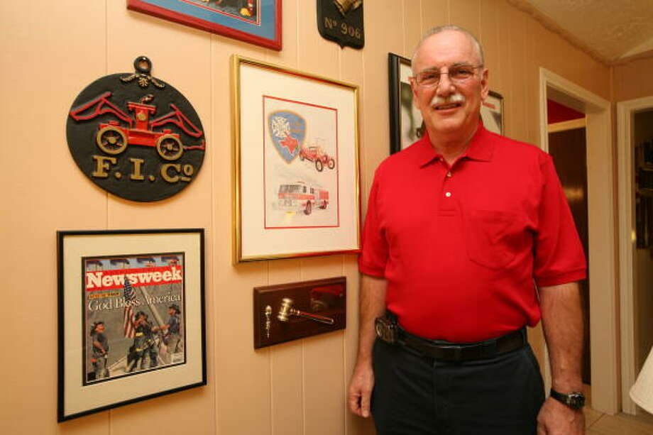 Sugar Land firefighter George Delmar, 61, of Pleak will retire this week after 30 years. Photo: Suzanne Rehak, For The Chronicle