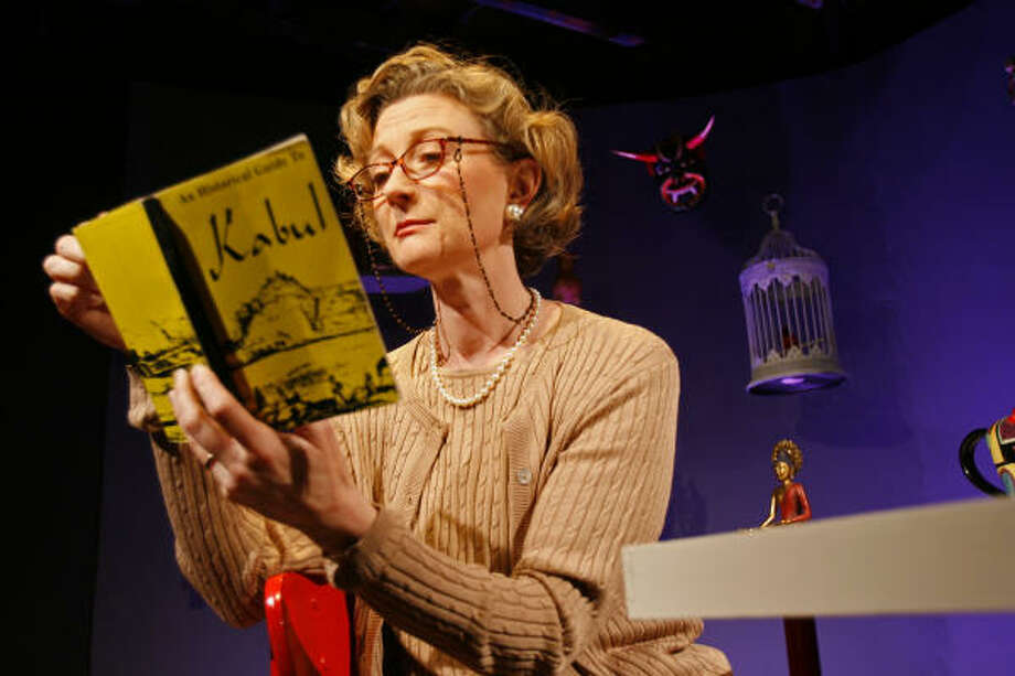 Christianne Mays stars as the fed-up Homebody in Main Street Theatre's production of Homebody/Kabul. Photo: Johnny Hanson, For The Chronicle