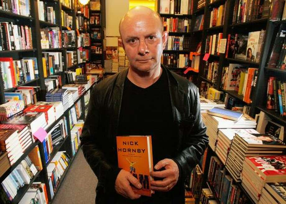 "Writer Nick Hornby, photographed here at Book Soup in West Hollywood, Calif., came to Houston last week to promote his latest book, ""Slam."" Photo: Mark Mainz, GETTY IMAGES"