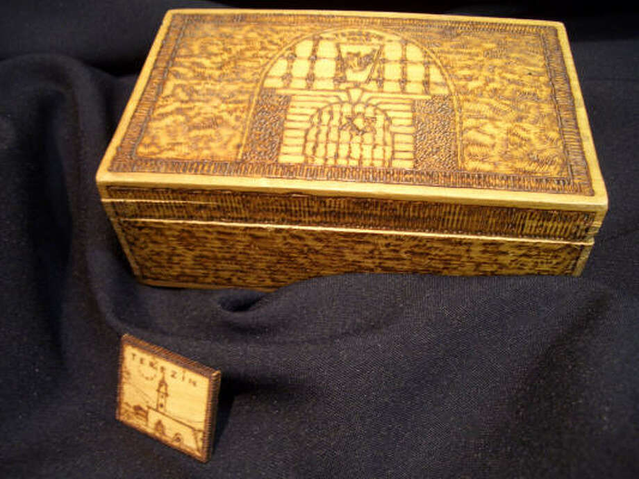 Henrich Wurm made this intricately carved box while he was a prisoner in the Nazi camp of Terezín. Photo: Holocaust Museum Houston