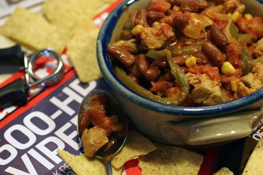 The recipe for Mexican Pork and Bean Chili requires very little skill in the kitchen. Photo: LARRY CROWE, ASSOCIATED PRESS