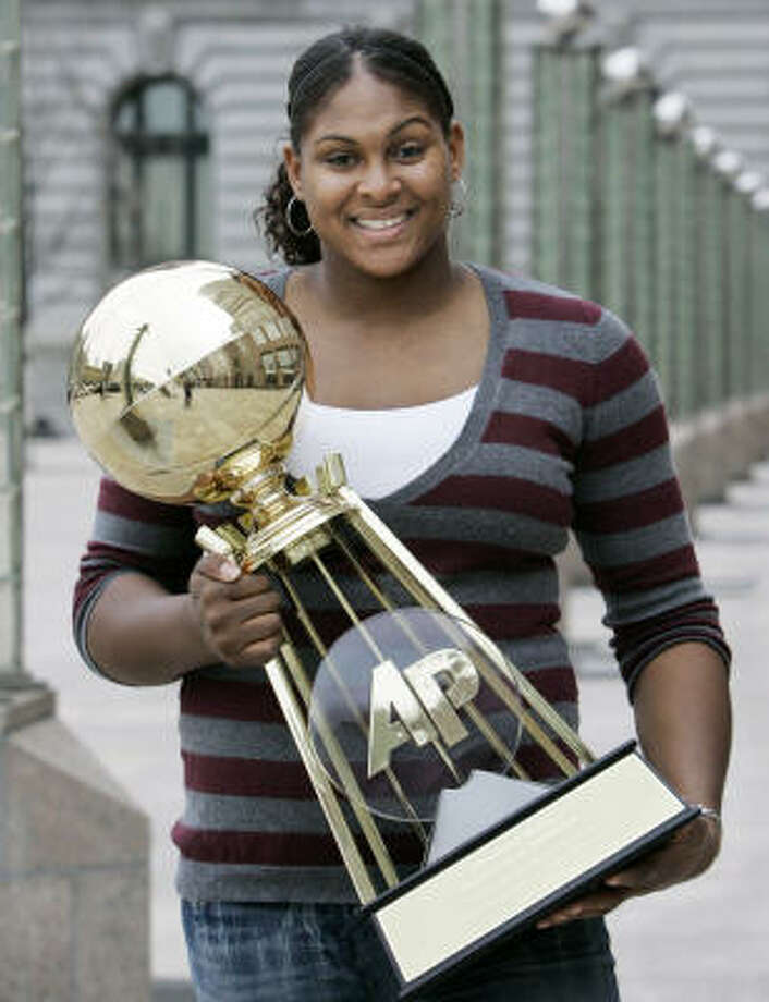 Oklahoma sophomore Courtney Paris is the  Associated Press women's college basketball player of the year. Photo: Tony Dejak, AP