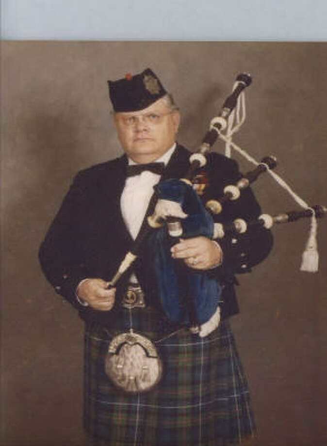 William Thomas Robertson III, who had played bagpipes since childhood, also taught middle school for 27 years. Photo: Handout Photo