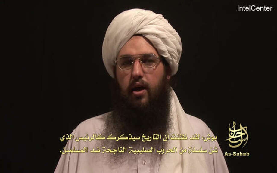 Adam Yehiye Gadahn, seen here in this video grab, spoke in English and the video carried Arabic subtitles. The video appeared on a Web site often used by Islamic militants and carried the logo of al-Qaida's media wing, as-Sahab. Photo: AP Photo/IntelCenter