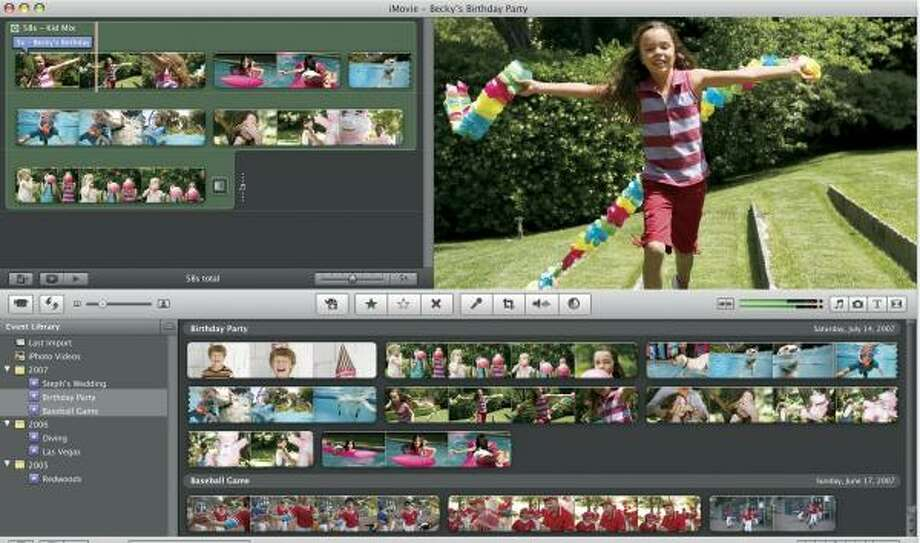 Apple's iMovie '08 is easy to use, but some of the features included in iMovie '06 are missed. Photo: APPLE