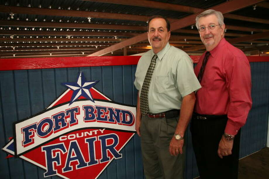From left, A. J. Dorr is the Fort Bend County Fair & Rodeo president and Bill Dostal is the president-elect. Photo: Suzanne Rehak, For The Chronicle